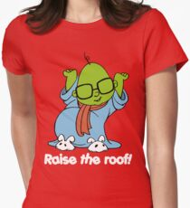 Muppet Babies - Bunsen - Raise The Roof - White Font Womens Fitted T-Shirt