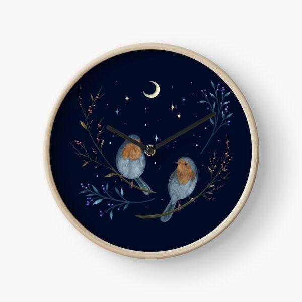 Birds and Berries Clock