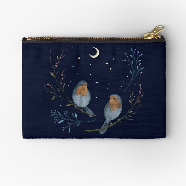 Birds and Berries Zipper Pouch