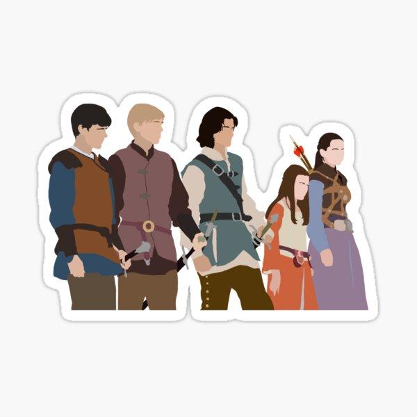 Personajes de Narnia (Edmund, Peter, Caspian, Lucy, Susan) Pegatina