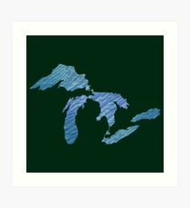 Great Lakes Art Print