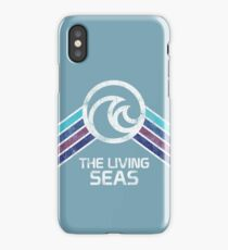 The Living Seas Distressed Logo in Vintage Retr Style iPhone Case