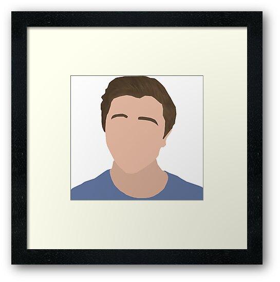 Chrismd minimalist art chris md face framed prints by for Minimal art face