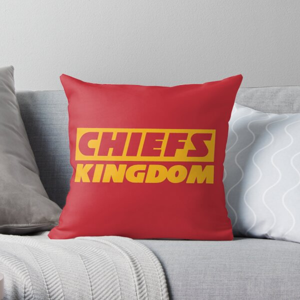 Red & Yellow Chiefs Kingdom Throw Pillow