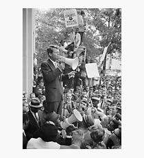 RFK Speaking At CORE Rally Photographic Print