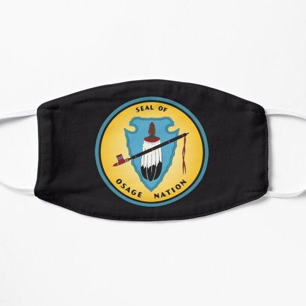 Osage Nation of Oklahoma Flag People of the Middle Waters Wazhazhe Seal fond noir HD de haute qualité Masque taille M/L