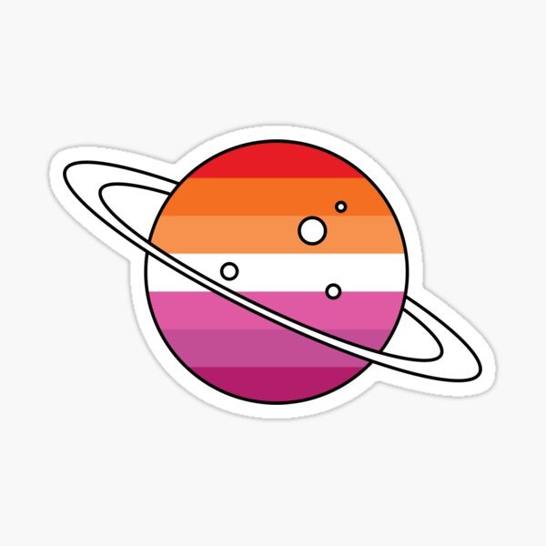 Lesbian Planet Sticker