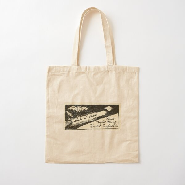 Vintage label - rocket mail from the 30s. India Rocket mail Cotton Tote Bag