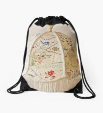 Vintage Lampshade Handstitched Drawstring Bag