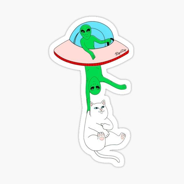 extraterrestres y platillos voladores Pegatina