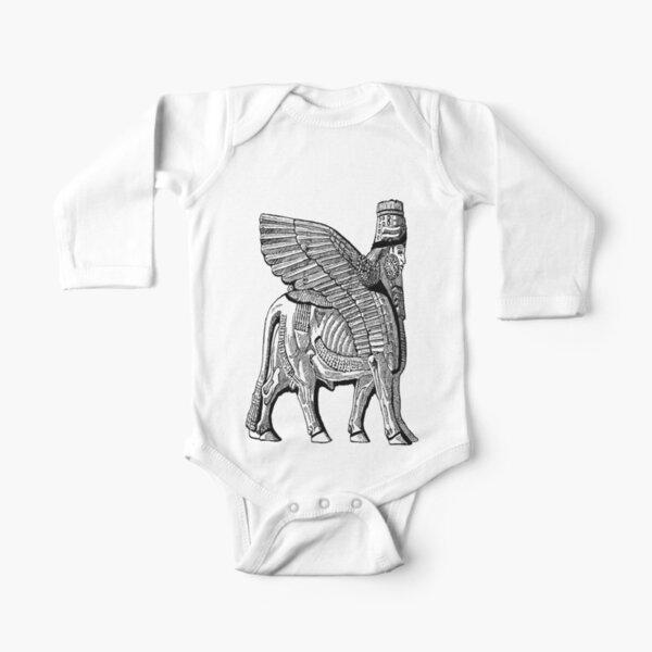 Assyrian Bull Long Sleeve Baby One-Piece