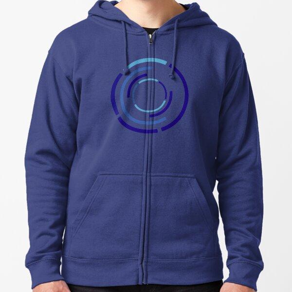 Circles Blue Zipped Hoodie