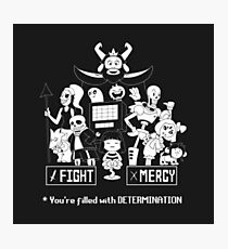 Undertale Fight or Mercy Photographic Print