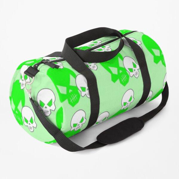 Green Skeleton Skulls Street Skater Punk Wear Pattern Duffle Bag