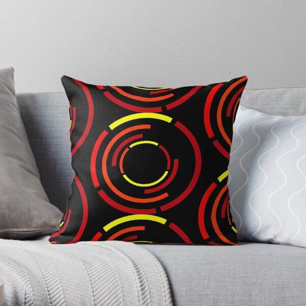 Circles Warm Throw Pillow