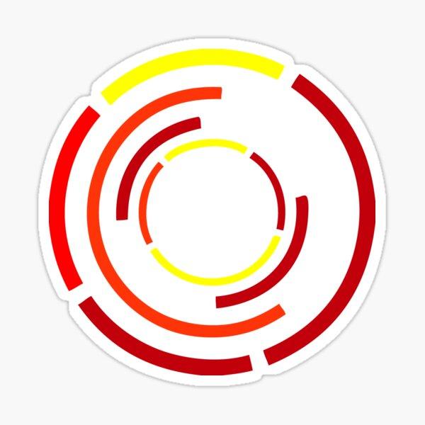 Circles Warm Sticker