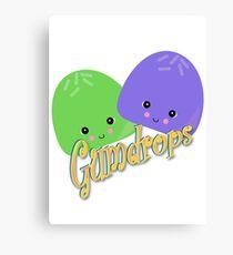 Cute Kawaii Gumdrops Characters Canvas Print