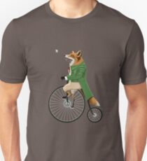 Fox riding bike in chase of dragonfly Unisex T-Shirt