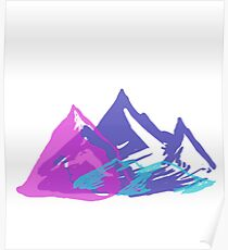 Multicolor Mountains Poster