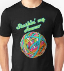 Ammo Stash Rubberband Ball Funnies Unisex T-Shirt