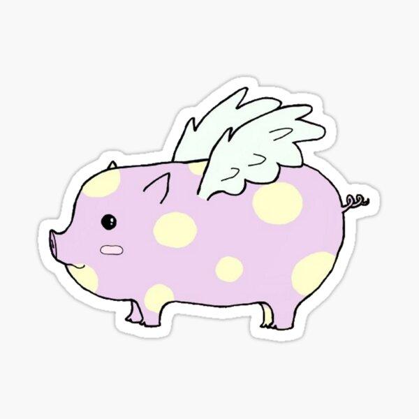 Flying Piggy Sticker