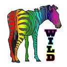 Wild Rainbow Zebra by doonidesigns