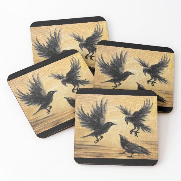 Crows Take Flight Coasters (Set of 4)