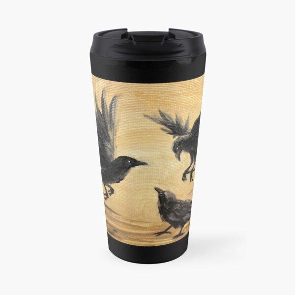 Crows Take Flight Travel Mug