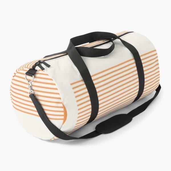 Orange Geometric Design Duffle Bag