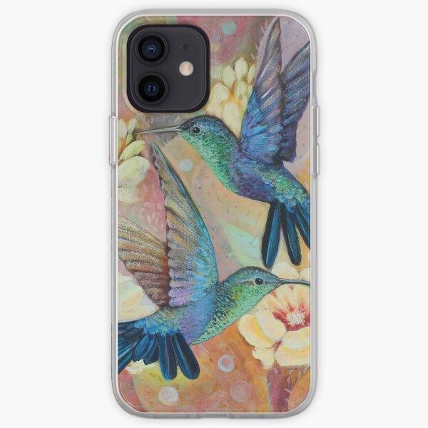 """""""Hummingbird and Cactus II"""" Funda blanda para iPhone"""