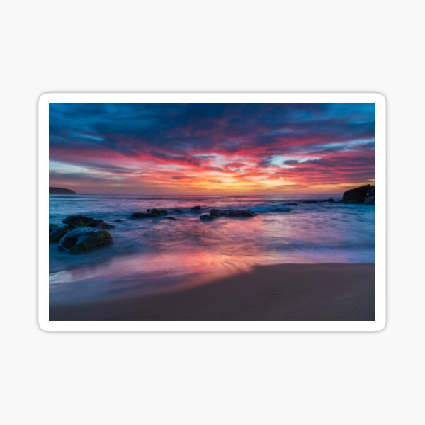 Colours of Sunrise at the Seaside Sticker