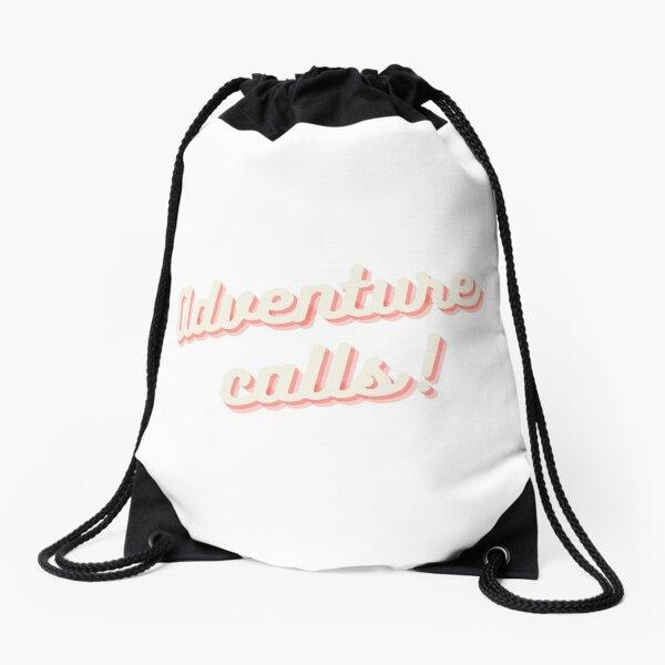 Adventure Calls Drawstring Bag