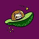 Avocadog Spaceship by fluffymafi