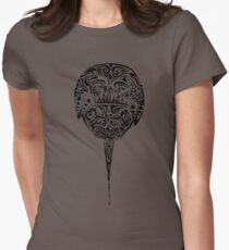 Tribal Horseshoe Crab Womens Fitted T-Shirt