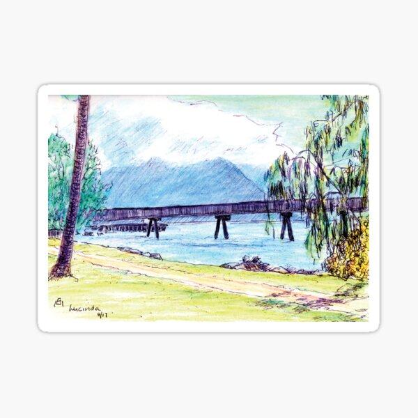 Australian Scene - Sugar wharf - Lucinda, Qld, Aus. Sticker