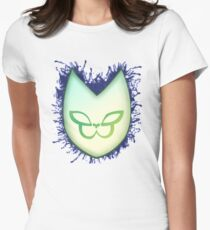 Gorillaz style mask Women's Fitted T-Shirt