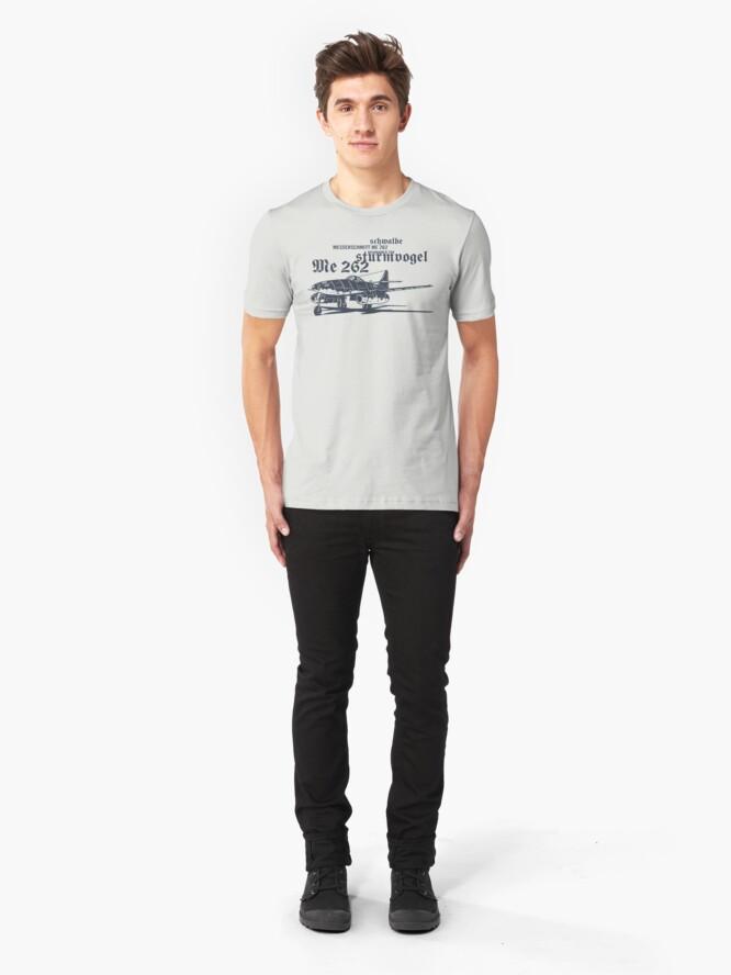 Alternate view of Messerschmitt ME 262 Slim Fit T-Shirt