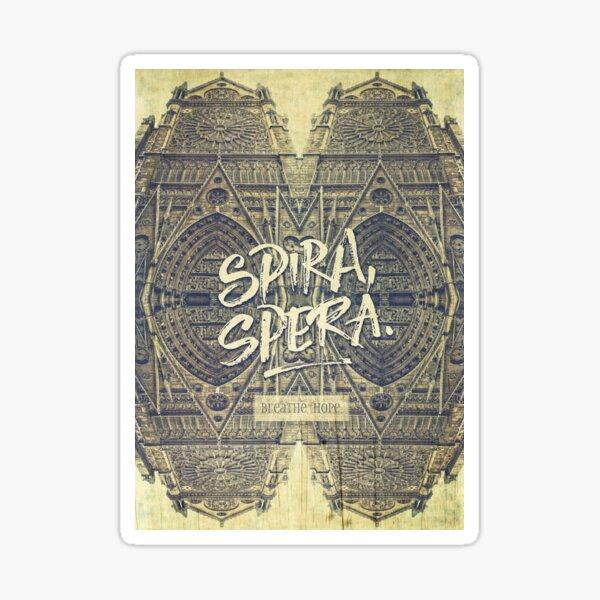 Spira Spera Victor Hugo Novel Notre-Dame de Paris Glossy Sticker