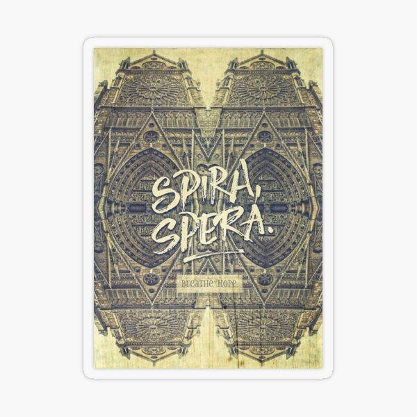 Spira Spera Victor Hugo Novel Notre-Dame de Paris Transparent Sticker