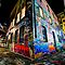 A Colorful Dilapidated Building