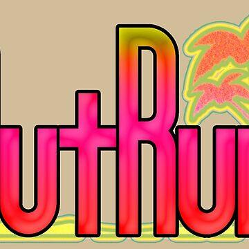 OutRun SEGA Arcade Vaporwave Logo by UnitShifter