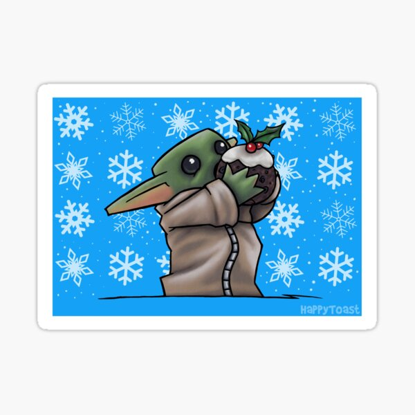 Christmas Baby Alien - Pudding Sticker