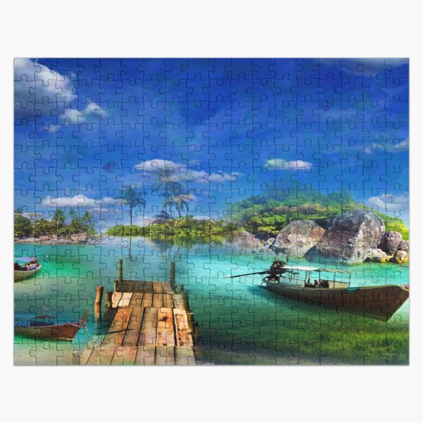 Island of Boats Jigsaw Puzzle