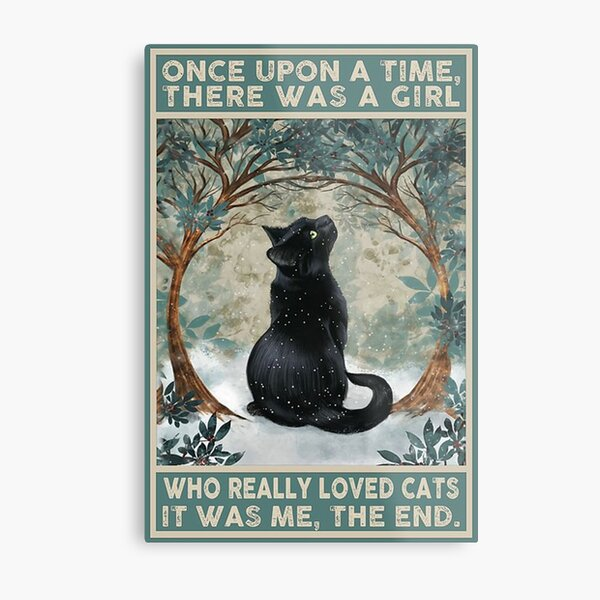 girl who really loved cats Metal Print