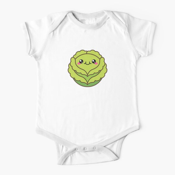 Cute cabbage or head of lettuce Short Sleeve Baby One-Piece