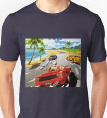 California OutRun SEGA utopian heaven arcade racer T-Shirt