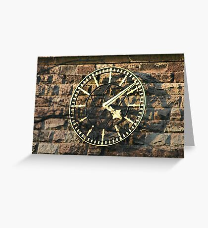 One Face of the Clock of Tarvin Church, Cheshire Greeting Card