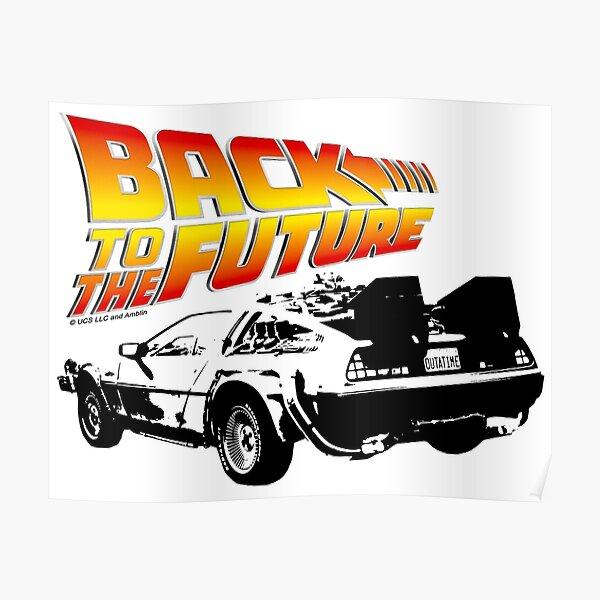 Back to the Future - DeLorean Stencil Fan Art Poster