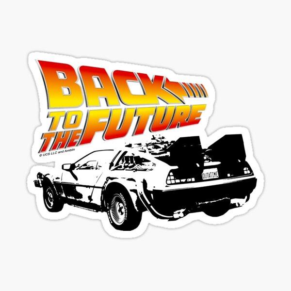 Retour vers le futur - DeLorean Stencil Fan Art Sticker