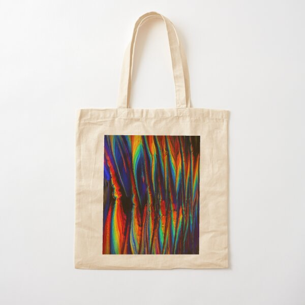 Goth Rainbow Zig Zag Cotton Tote Bag